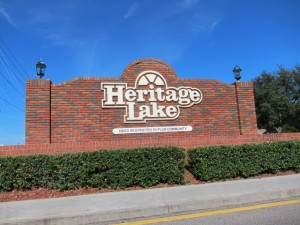 Heritage Lake sign